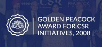Golden Peacock Award for CSR initiatives, 2008