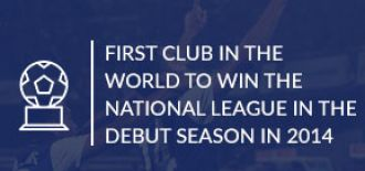 BFC became the first club in the world to win the national league in the debut season IN 2014